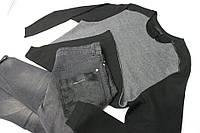 Мужской свитер серо черный