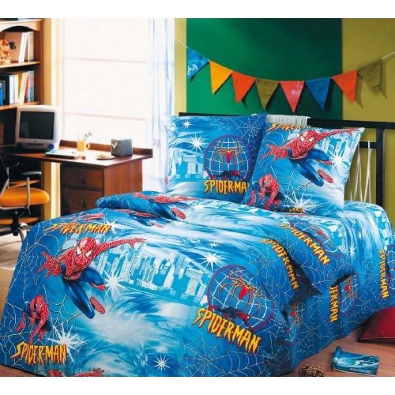 Постельное белье Спайдермэн бязь ТМ Царский дом в кроватку