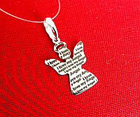 Серебряная родированная подвеска 925 пробы Ангел  I Love My Angel