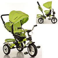 Детский трехколесный велосипед Turbotrike Зеленый (M 3199-4HA) со свето-звуковыми эффектами