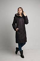 Женское пальто плащевое больших размеров батал 26039