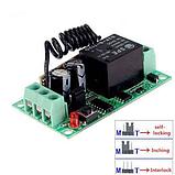 Бездротовий пульт дистанційного керування з модулем-приймачем DC 12v на 1 реле 220v, фото 4
