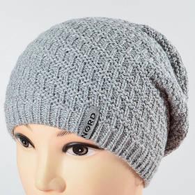 Молодежная удиненая шапка NORD св. серый 1694