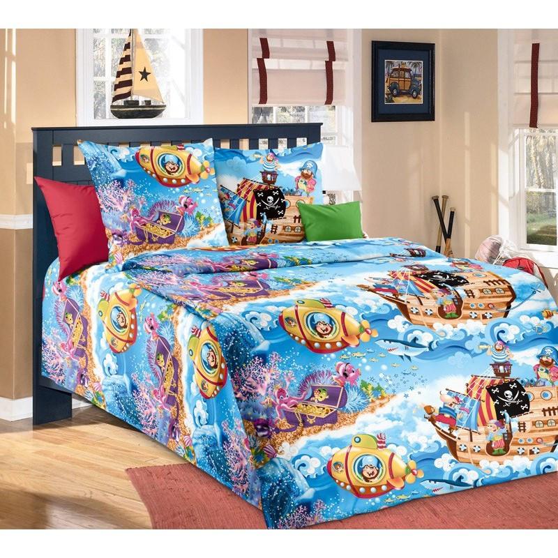 Постельное белье Пираты бязь ТМ Царский дом в кроватку