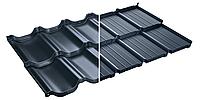Модульная металлочерепица Murano Мурано X-Matt Швеция SSAB графитовый (455), фото 1