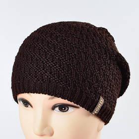 Молодежная удиненая шапка NORD шоколад 1694