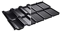 Модульная металлочерепица Murano Мурано  X -Matt Швеция SSAB черный (015)., фото 1