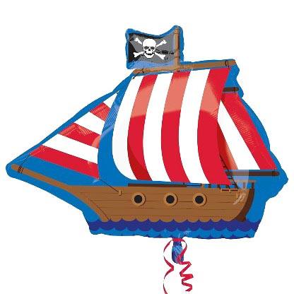 Шар фольга фигура Пиратский Корабль