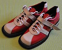 Штангетки шкіряні вітчизняні червоні
