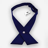 Кросс галстук женский темно-синий