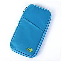 Дорожная сумка, бумажник, организатор для документов, сумочка для путешествий среднего размера, цвет - голубой