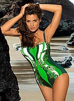Сдельный женский купальник Marko большого размера,принт абстракция