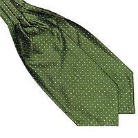 Bow Tie House™ Шейный платок Аскот зеленый в белый горох