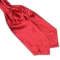 Bow Tie House™ Шейный платок Аскот красный в белый горох
