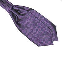 Bow Tie House™ Шейный платок Аскот фиолетовый с узором