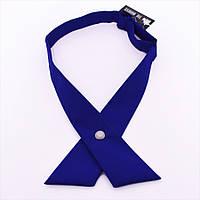 Кросс галстук женский синий
