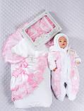 """Зимний набор для девочек """"Луиза"""" бело-розовый, 4-х предметный, фото 6"""