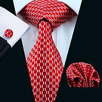 JASON&VOGUE Подарочный галстук красный с белым узором 09041
