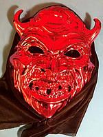 Карнавальная Пластиковая Маска Дьявол Прикол для Вечеринки