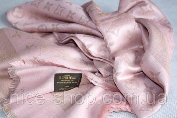 Палантин Louis Vuitton люрекс пудровый Люкс