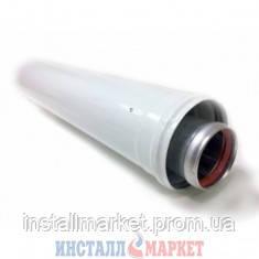 Коаксиальный удлинитель трубы Rocterm д.60/100 мм, L= 1000 мм. - Инсталл Маркет в Днепре