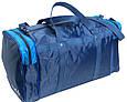 Сумка дорожная Wallaby 340-1 средняя 38 л, синий с голубым, фото 5