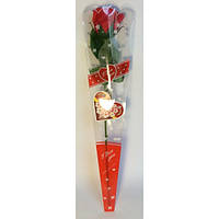 Роза подарочная 40см, лепестки - мыло для ванны