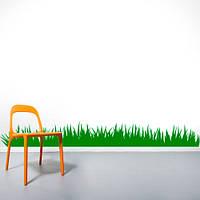 Интерьерная виниловая наклейка на обои Трава (пленка самоклейка, необычный стикер на стену, окно, мебель)