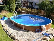 Сборно-щитовой морозоустойчивый овальный бассейн AZURO 5,5 х 3,7 м, высотой 1,2м Mountfield (Чехия), фото 3