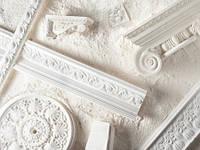 Ассортимент лепных элементов декора из гипса и пенополистрирола