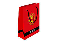 """Пакет бумажный подарочный, 26х32 см """"Manchester United"""", ТМ Kite, MU14-266K"""