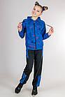 Спортивный костюм детский на девочку Кошки (голубой), фото 3