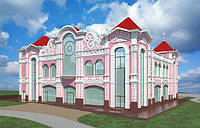 Декорирование внешних стен здания с помощью гипсовой лепнины