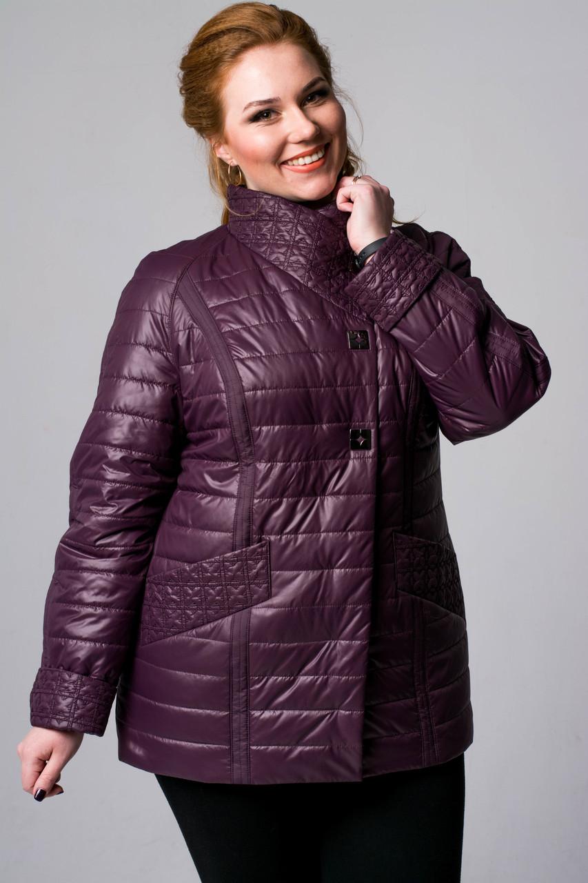 Жіноча куртка коротка великих розмірів