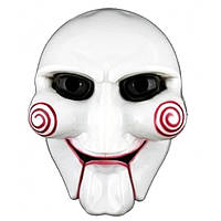 Карнавальная Пластиковая Маска из Кинофильма Пила Saw Mask Прикол для Вечеринки