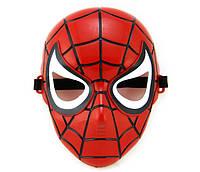 Карнавальная Пластиковая Маска из Кинофильма Человек Паук Spider Man Прикол для Вечеринки