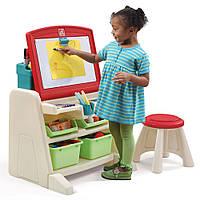"""Детский стол со стулом и доской для творчества """"FLIP&DOODLE"""", 66х60х48 см/30х31х31 см"""