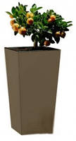 Горшок для цветов ELISE 25см серо-коричневый матовый