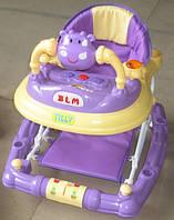 """Детские ходунки-качалка """"Бегемотик"""" от Baby Tilly, фиолетовые"""