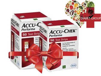 Тест-полоски Акку-Чек Перформа (Accu-Chek Performa) 50 шт. 2 упаковки, фото 2