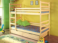 Ліжко двоярусне з натурального дерева Шрек