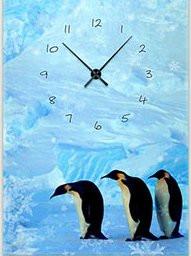 """Картина-часы (50х70 см) """"Пингвины"""""""