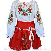 Український костюм (біло-червоний) 1-10 років
