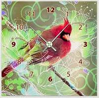 "Картина-часы (45х45 см) ""Попугай"""