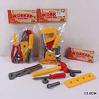 Набор инструментов 0755-A/B/C пила, молоток, плоскогубцы, отвертка, в пакете 13 см