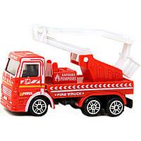 Машина металлическая T1321 3 вида, пожарные, на планшетке 9,7*7,8*5 см