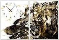 """Модульная картина-часы (100х70 см) """"Хищники"""""""