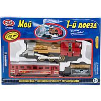 "Железная дорога PLAY SMART 0608 ""Мой 1-й поезд"" на батарейках, музыка, свет.дым 282 см 38*7*26"