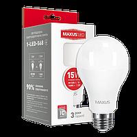 Светодиодная лампа MAXUS, 15W, 4100К, нейтрального свечения, цоколь - Е27, 3 года гарантии!!!