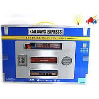 Железная дорога, свет, звук батар (арт. 1802-3E), пластик, Коробка с открытым окном, 51.50x5.50x35.50 см, 3-6 лет, Jambo, 100682901